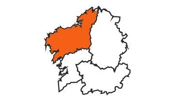 Asociaciones de FEDE en la provincia de A Coruña