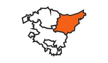 Asociaciones de FEDE en la provincia de Guipúzcoa